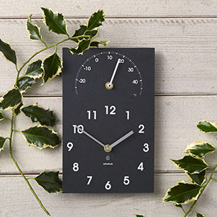 Notonthehighstreet.com - Eco Recycled Outdoor Clock And Thermometer by ASHORTWALK