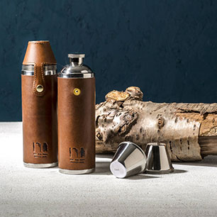 Notonthehighstreet.com - Luxury Leather Hunter Flask by MAN GUN BEAR