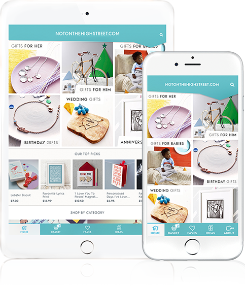 Gift finder app v2 notonthehighstreet we hand pick the most original products from the best creative businesses making it easy for you to find the perfect gift whoever its negle Gallery