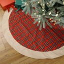 Traditional Tartan Wrap Around Christmas Tree Skirt