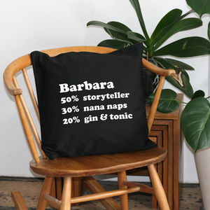 Personalised Percentage Cushion - cushions