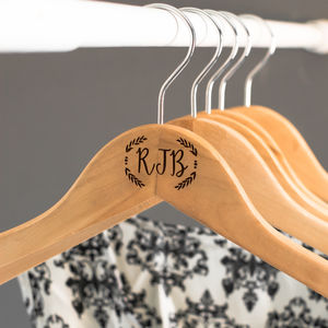 Personalised Pair Of Monogrammed Hangers - stands, rails & hanging space