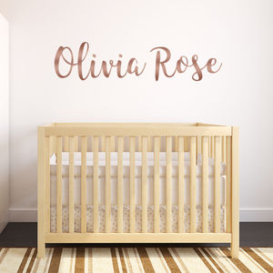Personalised Rose Gold Wall Stickers - wall stickers