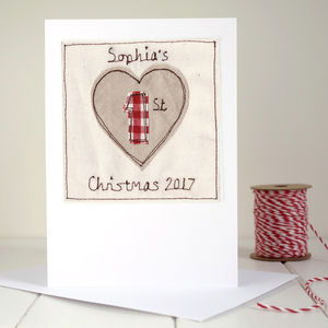 Personalised Heart 1st Christmas Card