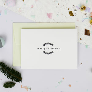 Contemporary Monochrome Merry Christmas Card