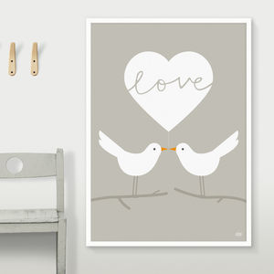 Love Doves Print - original wedding gifts
