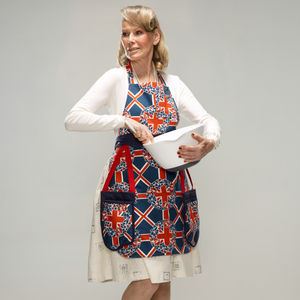 Valarie Union Jack Apron With Integrated Oven Gloves - aprons