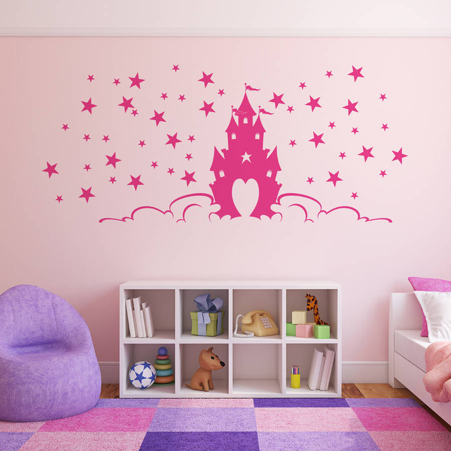 Princess wall stickers fairytale princess castle wall stickers amipublicfo Gallery