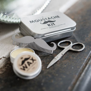 Moustache Grooming Kit - gifts for him