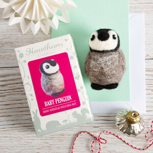 Baby Penguin Mini Needle Felting Craft Kit
