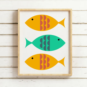 Retro Fish Print - baby's room