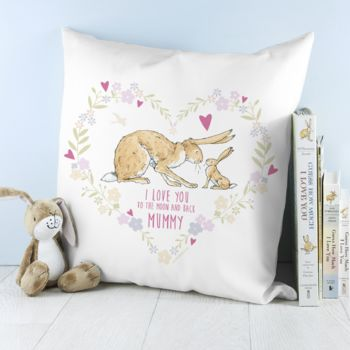 'Guess How Much I Love You' Personalised Cushion Cover