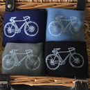 Bamboo Super Socks Hand Printed Racer Bike