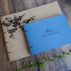 Personalised Leather Memory Book Album