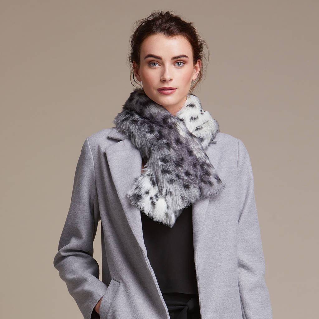b2e2efd1 luxuriously soft faux fur tippet scarf by helen moore ...