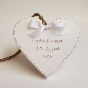 Wedding Heart With Stitching - room decorations