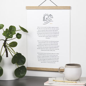 Custom Print Of Wedding Words Proof Included