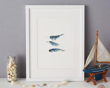 Narwhal Illustration Giclee Print