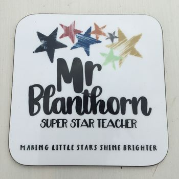Personalised Teaching Assistant Coaster