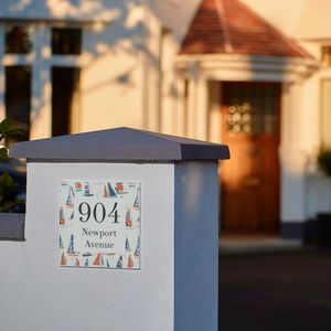 Personalised New Home Boats House Number Gift