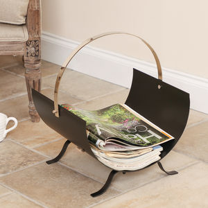 Contemporary Curved Magazine Store - magazine racks