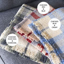 checked colour options for personalised blanket