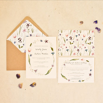 Spring Flower Wedding Invitation
