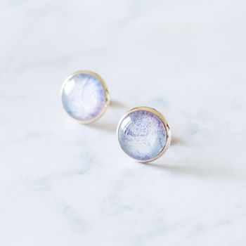 Rose Gold Marble Earrings