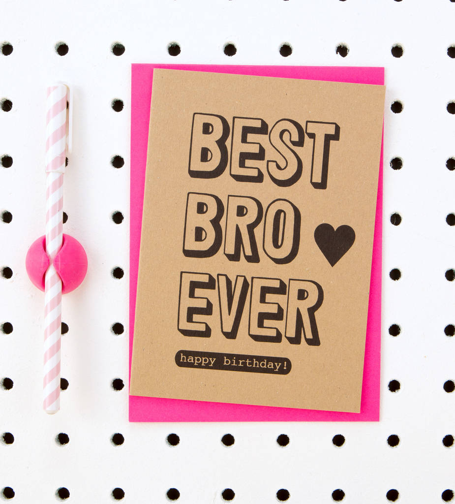 Best bro ever happy birthday brother birthday card by scissor best bro ever happy birthday brother birthday card voltagebd Gallery