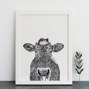 Cow Print - drawings & illustrations