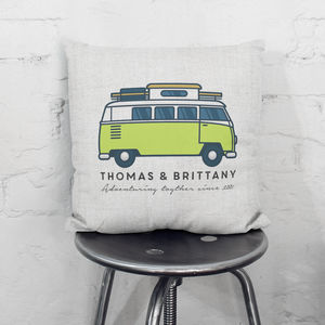 Personalised Campervan Cushion - patterned cushions
