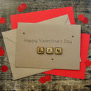 Kraft Personalised Valentine's Day Wooden Tiles Card