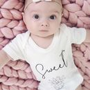 Sweet Pineapple Organic Baby Grow