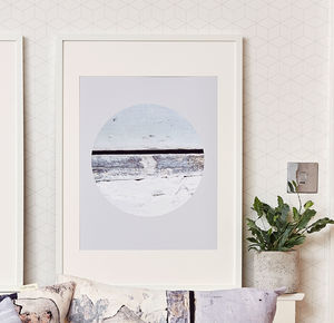 *New* Coastal Eclipse Inspired Wall Art Print - modern & abstract