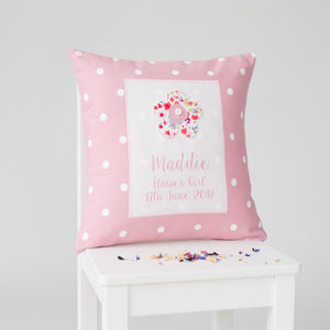 Personalised Flower Girl Cushion - cushions