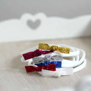 Christmas Glitter Bow Headband - hair accessories