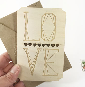Love Wooden Keepsake Card