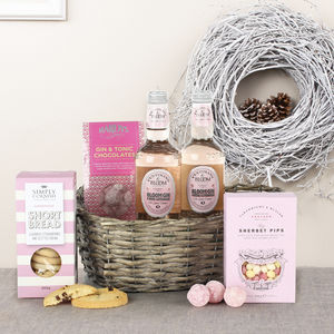 The Pink Gin And Treats Gift Hamper - biscuits and cookies