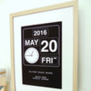 Baby's Personalised Clock Print