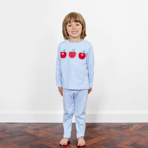 Blue Apple Print Pyjama