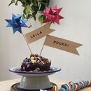 Limited Edition Personalised Star Cake Topper Flags