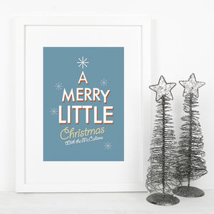 Personalised Retro Style Christmas Print