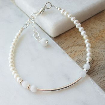 Pearl And Moonstone Bracelet