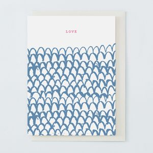 'Love' Navy - love & romance cards