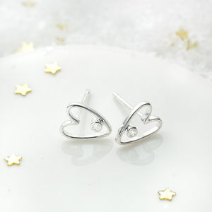 My First Diamond Earrings - christening jewellery