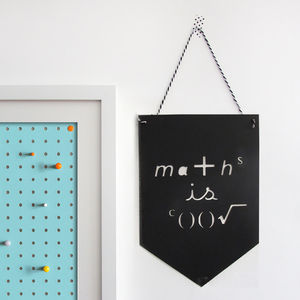 Maths Paper Banner Flag - children's pictures & paintings