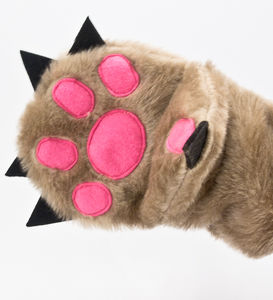 Oven Mitt In Shape Of Bear Paw - kitchen