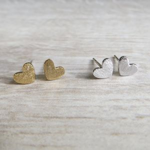 Tiny Heart Studs - earrings