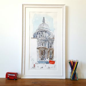 St Paul's Cathedral Detail Limited Edition Giclee Print
