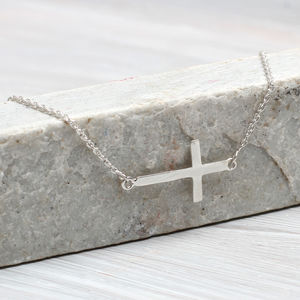 Personalised Contemporary Cross Necklace